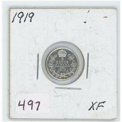 1919 Canada 5 Cent Coin