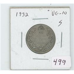 1932 Canada 25  Cent Coin