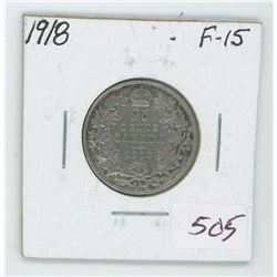 1918 Canada 25 Cent Coin