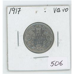 1917 Canada 25 Cent Coin