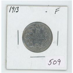 1913 Canada 25 Cent Coin
