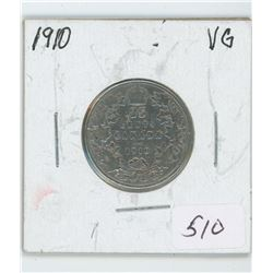 1910 Canada 25 Cent Coin