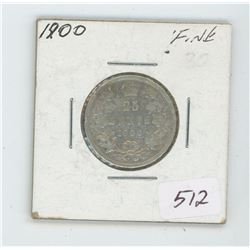 1900 Canada 25 Cent Coin