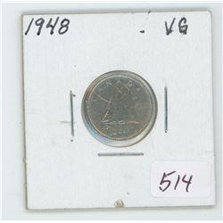 1948 Canada 10 Cent Coin