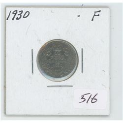 1930 Canada 10 Cent Coin