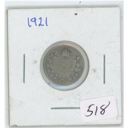 1921 Canada 10 Cent Coin