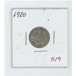 1920 Canada 10 Cent Coin