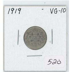 1919 Canada 10 Cent Coin