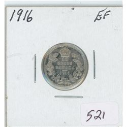 1916 Canada 10 Cent Coin