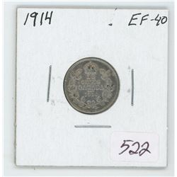 1914 Canada 10 Cent Coin