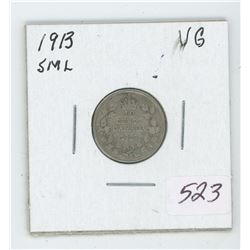 1913 Canada 10 Cent Coin