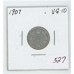 1907 Canada 10 Cent Coin