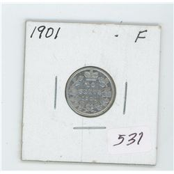 1901 Canada 10 Cent Coin