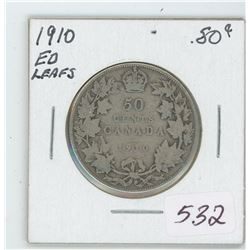 1910 Canada 50 Cent Coin