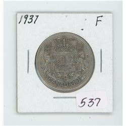 1937 Canada 50 Cent Coin