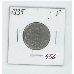 1935 Canada 25 Cent Coin