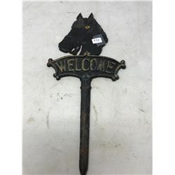 Iron Horse Welcome Sign