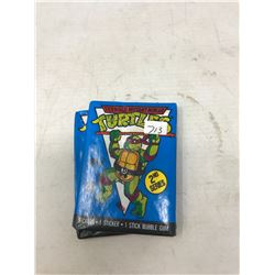 3 Packs of Teenage Mutant Ninja Turtle Unopened Cards