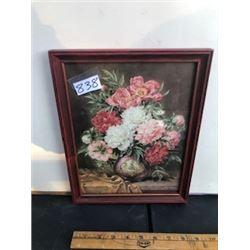 """9.5"""" X 12"""" framed floral pic"""
