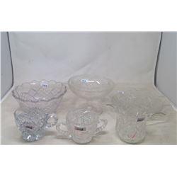 6 Pcs Cut Glass
