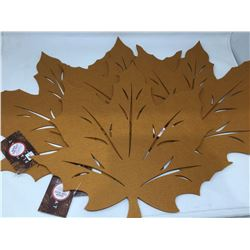 Set of 4 Leaf Felt Placemats