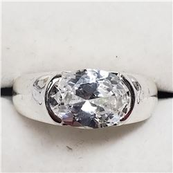 Sterling Silver Cubic Zirconia Ring (~Size 8), Suggested Retail Value $120