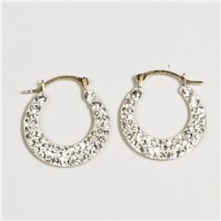 10K Yellow Gold Cubic Zirconia 0.74Gm Earrings, Suggested Retail Value $300 (Estimated Selling Price