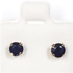 10K Yellow Gold Sapphire (September Birthstone)(0.8cts) Earrings, Made in Canada, Suggested Retail V