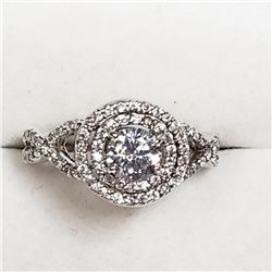 Sterling Silver Cubic Zirconia Ring (~Size 7), Suggested Retail Value $160