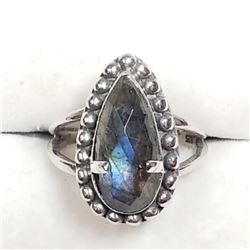 Sterling Silver Labradorite Ring (~Size 9), Suggested Retail Value $200 (Estimated Selling Price fro