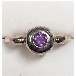 Sterling Silver Amethyst(February Birthstone) Ring (~Size 7.5), Suggested Retail Value $120
