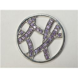 "Silver Genuine Cubic Zirconia ""Hot Diamonds"" Pendant. Retail $80"