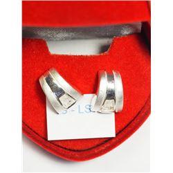Silver Cubic Zirconia Earrings. Retail $80