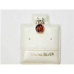Silver Genuine Garnet (0.65ct) (5mm). Retail $20