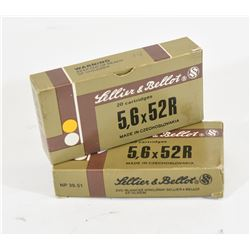 34 Rounds of Sellier & Bellot 5.6x52R 70gr SP