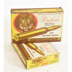 40 Rnds. .340 Weatherby Magnum Reloads