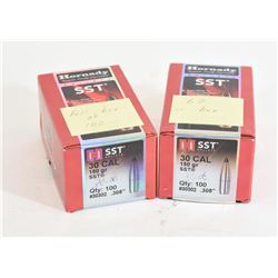 162 Pieces of Hornady SST 30cal 150gr Projectiles