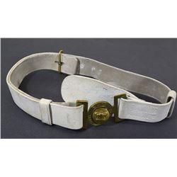RHLI White Leather Ceremonial Dress Belt