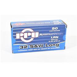 50 Rounds PPU 32 S&W Long 98gr LRN
