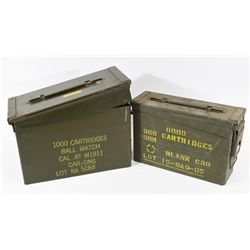2 Green Ammo Cans