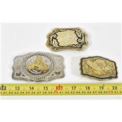3 Belt Buckles