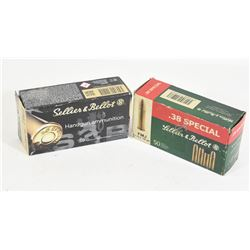 100 Rounds Sellier & Bellot .38 Special 158gr.