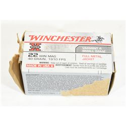 50 Rounds Winchester 22 Win Mag 40gr. FMJ