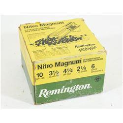 """25 Rounds Remington 10 x 3 1/2"""" Lead #6 Shot"""