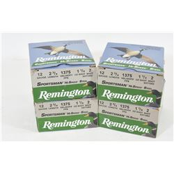 "100 Rounds Remington 12gax2 3/4"" Steel #2 Shot"