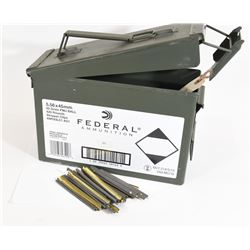 Ammo Box With 22 Stripper Clips, Magazine Adapter