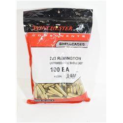 100 Pieces 223 Remington Unprimed Brass