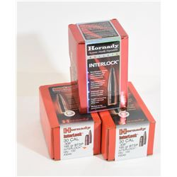 300 Pieces Hornady 30 Caliber Projectiles