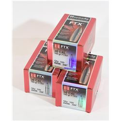 240 Pieces Hornady FTX 30 Caliber Projectiles