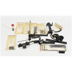 Assorted Rifle Parts, Scope and Rail Mounts